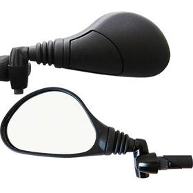 Busch + Müller Achteruitkijkspiegel fietsspiegel voor E-bikes, recht, 16mm zwart